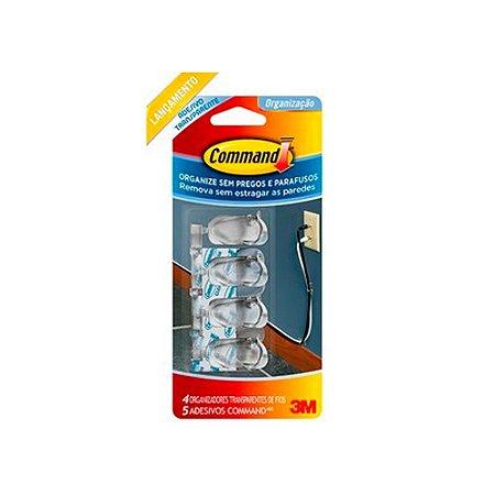 ADESIVO ORGANIZADOR TRADIC FIOS COMMAND TRANSP (CM381) C/4