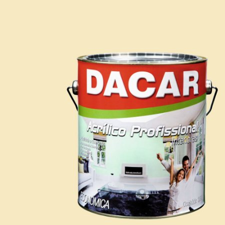 Tinta Acrílica Dacar Fosco Profissional 3,6 L Palha
