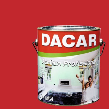 Tinta Acrílica Dacar Fosco Profissional 3,6 L Rubi