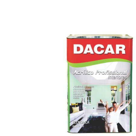Tinta Acrílica Dacar Fosco Profissional 18l Branco