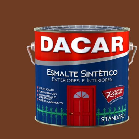 Tinta Esmalte Sintético Standard Dacar Tabaco 900 Ml