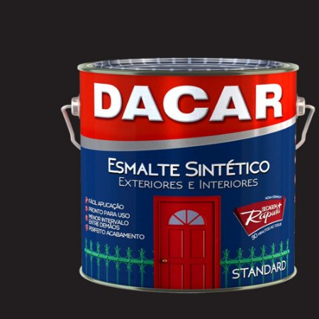 Tinta Esmalte Sintético Standard Dacar Preto 3,6 Lts