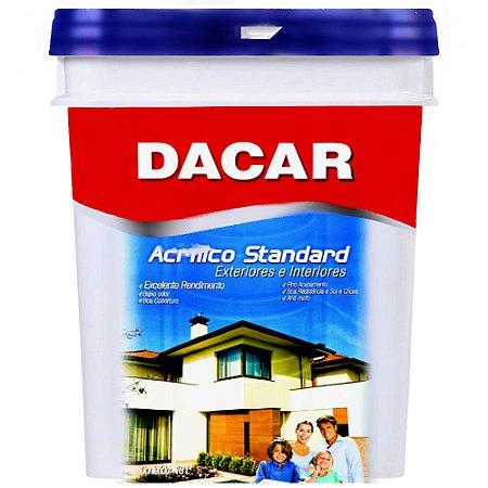 Tinta Látex Acrílica Dacar Standard 18l Branco Balde