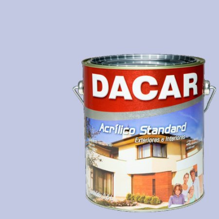 Tinta Acrilico Latex Standar Dacar 3,6 L Lílas