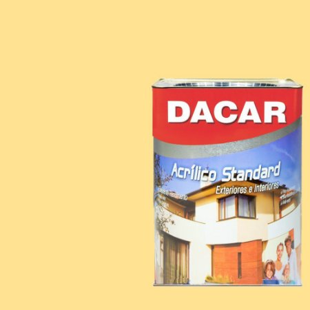 Tinta Acrilico Latex Standar Dacar 18 L Vanilla