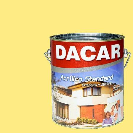 Tinta Acrilico Latex Standar Dacar 3,6 L Amarelo Canario