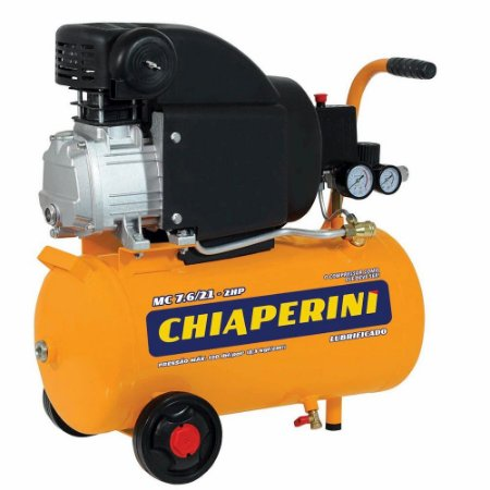 Motocompressor 21 Litros 2hp Com 120 Psi 110 V