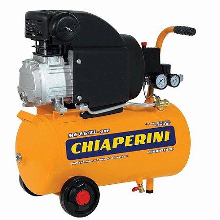 Motocompressor 21 Litros 2hp Com 120 Psi 220 V