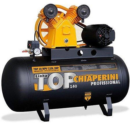 Compressor De Ar 110 Litros 2 Polos Chiaperini Mono 220v