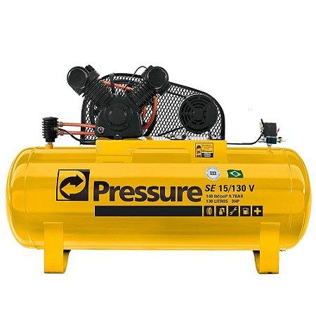 Compressor De Ar 130 Litros 2p 140lb Pressure Monofásic 350v