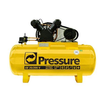 Compressor De Ar 150 Litros 20 Pés Se 20/200v Pressure