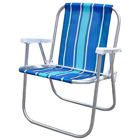 Cadeira De Praia Sentada Em Aluminio Cad0047 - Botafogo