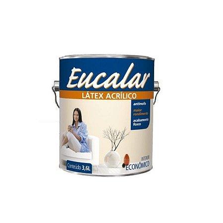 Tinta Acrílica 3,6 Litros Latex Interno Eucalar  Branco