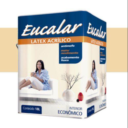 Tinta Acrílica  18 Litros Interno Eucalar Latex Vanilla