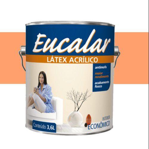 Tinta Acrílica 3,6 Litros Int. Eucalar Latex Laranja Cítrico