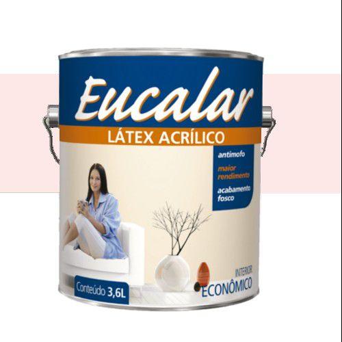 TINTA EUCALAR LATEX ACRILICO COR : ROSA BEBE - 3,6 LTS