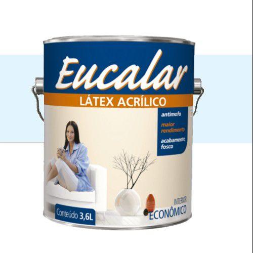 Tinta Acrílica 3,6 Litros Interno Eucalar Latex Azul Praia