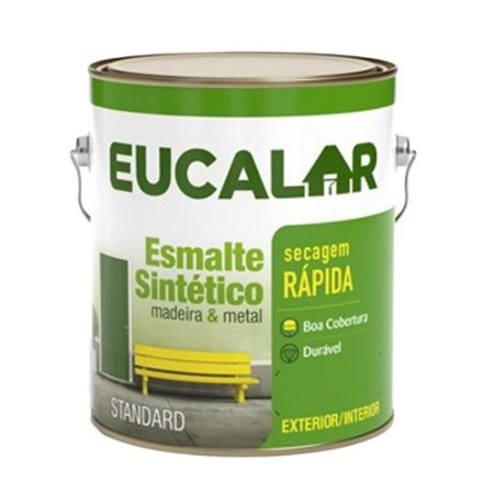 Tinta Esmalte Sintético Eucalar Branco 3,6 L Eucatex
