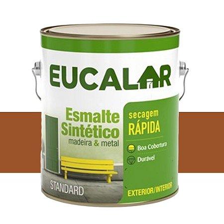 Tinta Esmalte Sintético Eucalar Marrom Conhaq 900 Ml Eucatex