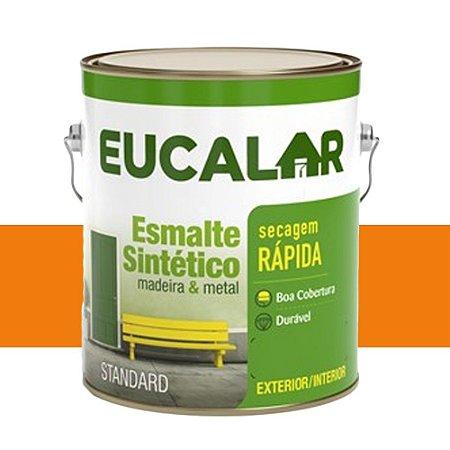 Tinta Esmalte Sintético Eucalar Laranja 900 Ml Eucatex