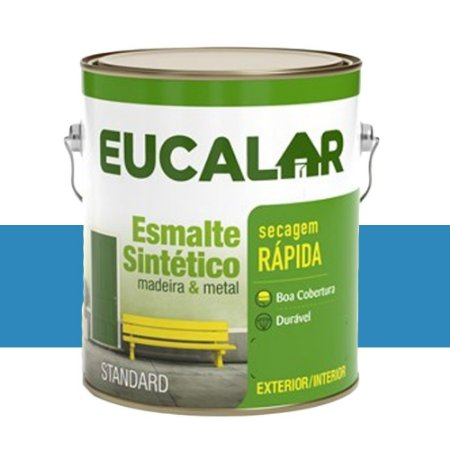 Tinta Esmalte Sintético Eucalar Azul Mar 3,6 L Eucatex