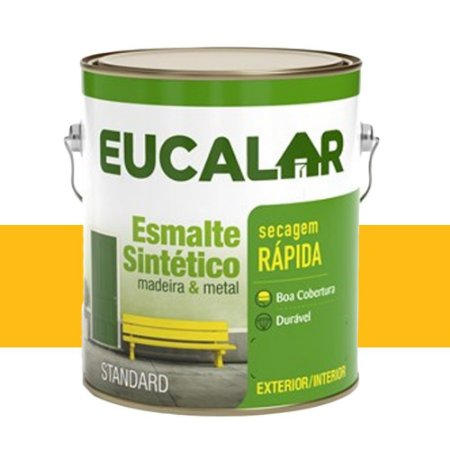 Tinta Esmalte Sintético Eucalar Amarelo Ouro 3,6 L Eucatex