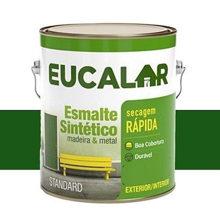Tinta Esmalte Sintético Eucalar Verde Folha 225 Ml Eucatex