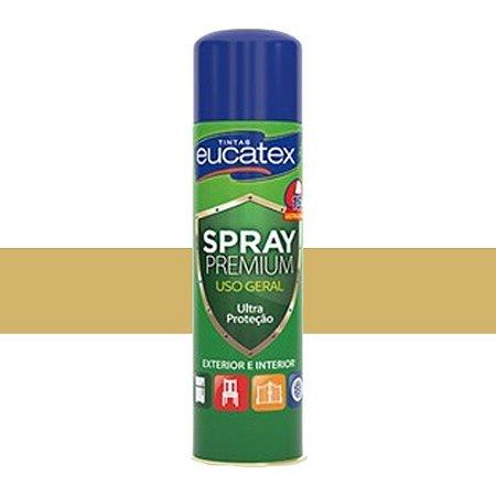Tinta Spray Multiuso Cor Dourado Brilhante 400ml Eucatex