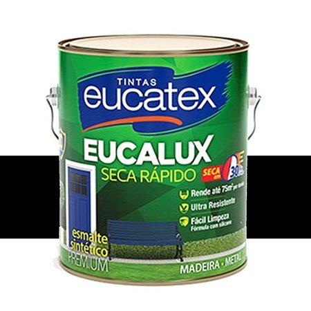 Tinta Esmalte Premium Fosco Cor Preto 225ml Eucatex