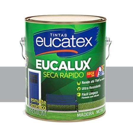 Tinta Eucalux Esmalte Premium Platina 900 Ml Eucatex