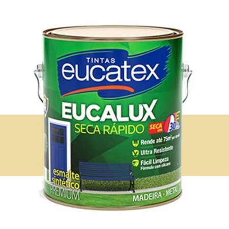 Tinta Eucalux Esmalte Premium Marfim 900 Ml Eucatex