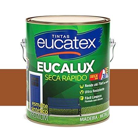 Tinta Eucalux Esmalte Premium Marrom Conhaque 225 Ml Eucatex
