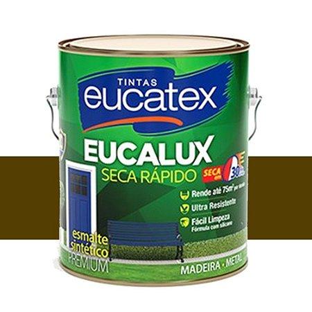 Tinta Eucalux Esmalte Premium Marrom 3,6 Litros Eucatex