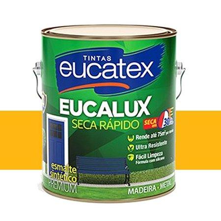 Tinta Eucalux Esmalte Premium Amarelo 3,6 Litros Eucatex