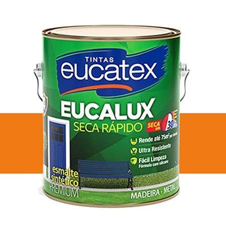 Tinta Eucalux Esmalte Premium Laranja 900 Ml Eucatex