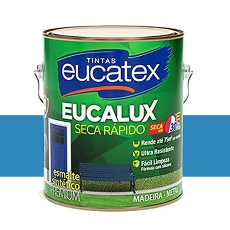 Tinta Eucalux Esmalte Premium Azul França 900 Ml Eucatex