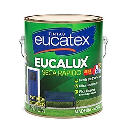 Tinta Eucalux Esmalte Premium Azul Del Rey 900 Ml Eucatex