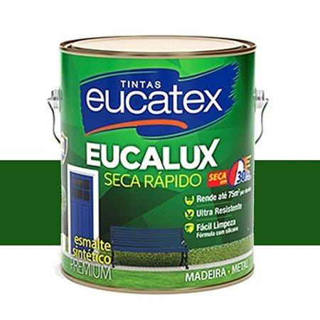 Tinta Eucalux Esmalte Premium Verde Folha 225 Ml Eucatex