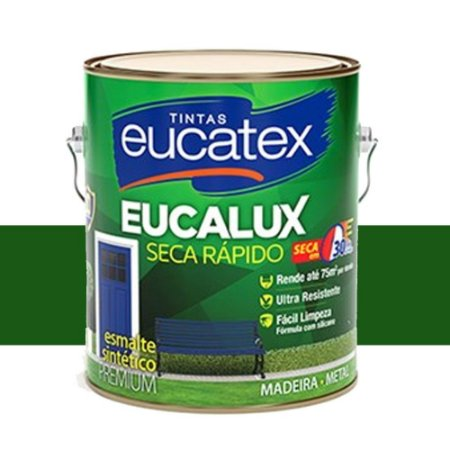 Tinta Eucalux Esmalte Premium Verde Folha 900 Ml Eucatex