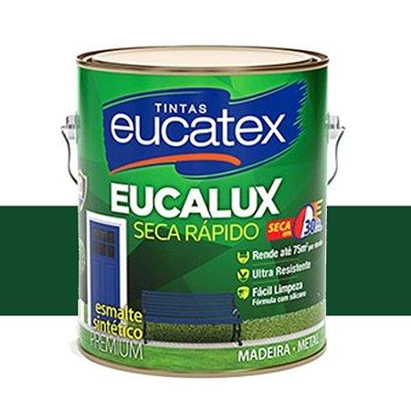 Tinta Eucalux Esmalte Premium Verde Colonial 900 Ml Eucatex