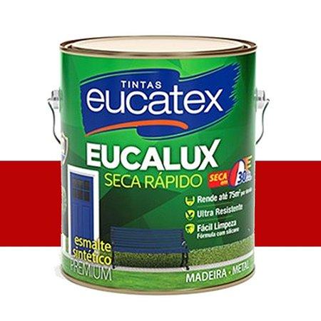 Tinta Eucalux Esmalte Premium Vermelho 225 Ml Eucatex