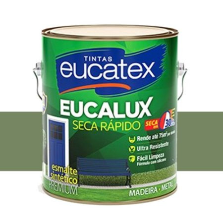 Tinta Eucalux Esmalte Premium Verde Nilo 900 Ml Eucatex