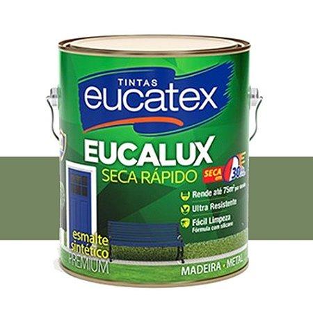 Tinta Eucalux Esmalte Premium Verde Nilo 3,6 Lts Eucatex