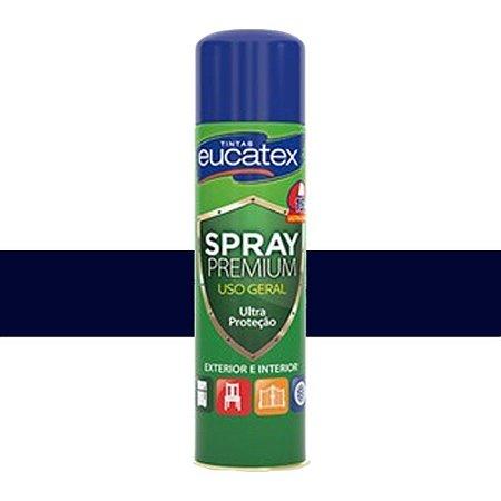 Tinta Spray Multiuso Cor Azul Escuro Brilhante 400ml Eucatex