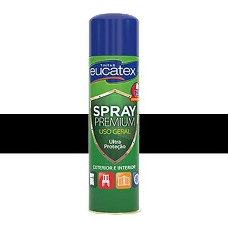 Tinta Spray Multiuso Cor Preto Fosco 400ml Eucatex
