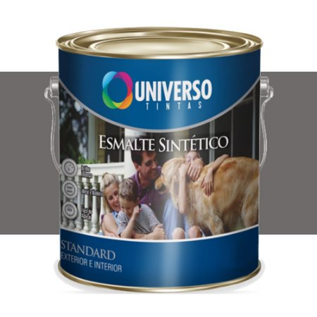 Tinta Universo Esmalte Sintetico Stand Cinza Medio 900ml