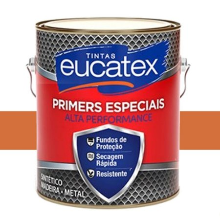 Zarcão Fundo Anti-corrosivo Eucatex 3,6 Lts