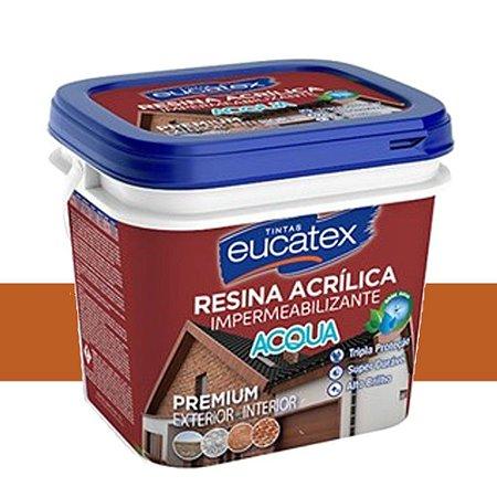 Resina Acrilica Base Agua Eucatex Cor Ceramica Telha 3,6 Lts