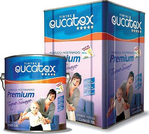 Tinta Eucatex Acetinada Premium Toque Suave Branco 3,6 Lts