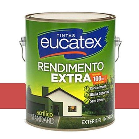 Tinta Acrílico Rendim. Extra Vermelho Cardinal 18l Eucatex